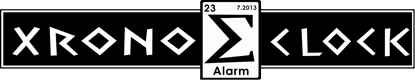 Xronos Clock Home Logo