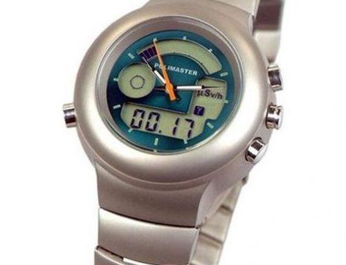 World's smallest geiger counter watch